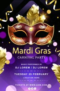 Mardi gras flyers