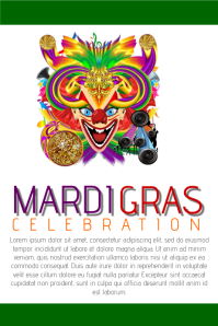customizable design templates for mardi gras | postermywall, Powerpoint templates