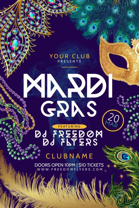 Mardi Gras Poster Template