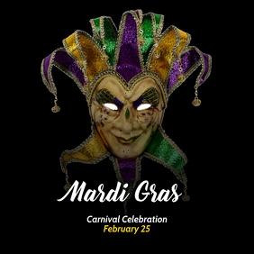 Mardi Gras Poster template Isikwele (1:1)