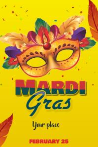 Mardi Gras Template Banner 4 x 6 fod