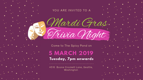 Mardi Gras Trivia Night Banner