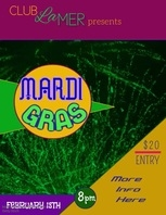 Mardi Gras Video Flyer Template