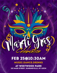 Mardi Grass Celebration Flyer
