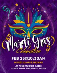 Mardi Grass Celebration Flyer