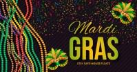 mardigras ,mardi gras, festival Facebook Shared Image template