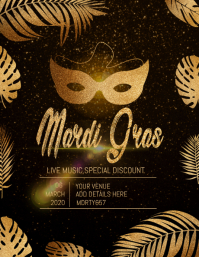 mardigras flyer template,event template,party template