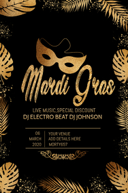 MardiGras flyers,Costume party flyers,event flyers