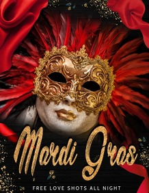 Mardigras flyers,event flyers,masquerade