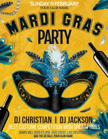 mardigras flyers,masquerade flyers,carnival f
