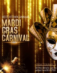 mardigras video flyers,event video flyers ,party flyers Løbeseddel (US Letter) template