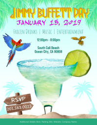 Margarita Summer Flyer Jimmy Buffett