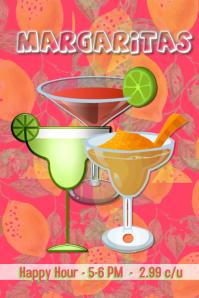 Margaritas/bar/restaurant/clubs/bebidas Poster template