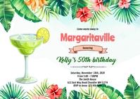 Margaritaville Tropical Invitation A6 template