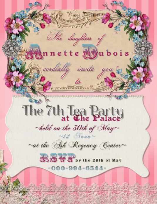 Marie Antoinette Victorian Tea Elegant Royal Pink Vintage