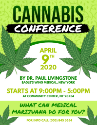 Cannabis Conference Flyer Volante (Carta US) template