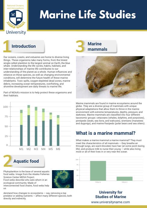 Marine Life Scientific Paper Template A4