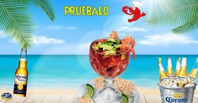 mariscos Facebook Shared Image template