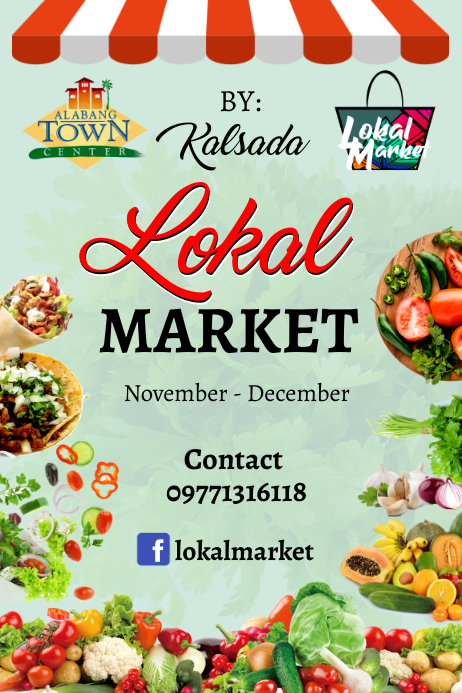 Market Poster template