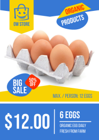 Market Products Sign A4 template