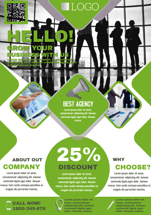 MARKETING AGENCY A4 template
