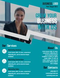 Marketing agent business flyer template design