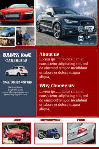 Marketing brochure for business - Fully customizable - Great for car dealership