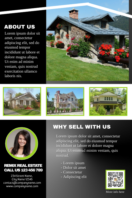 Multipurpose marketing brochure - Black glossy