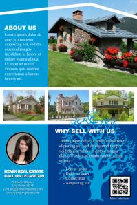 Multipurpose marketing brochure - Blue