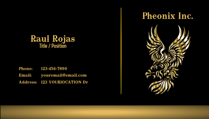 Marketing Business Card Tarjeta de Presentación template
