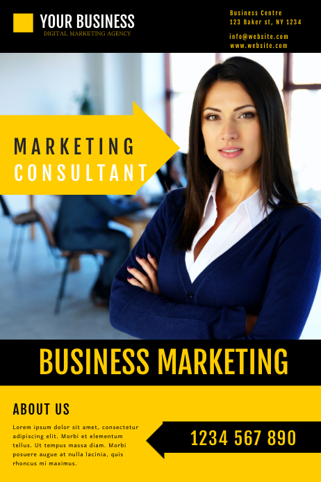 marketing business consultant flyer Poster template