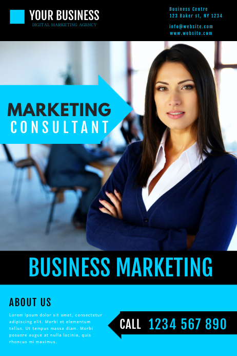 marketing business consultant flyer