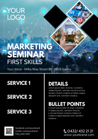 Marketing Business Flyer Seminar Workshop ad A4 template