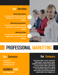 Marketing business flyer template design