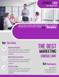 Marketing business flyer template design