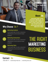 Marketing company business flyer template design