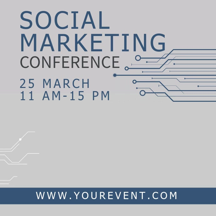 Marketing Conference video template