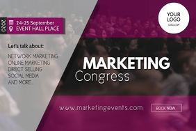 Marketing congress Network event summit ad Banner 4' × 6' template