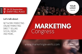 Marketing congress Network event summit ad Banner 4' × 6' template