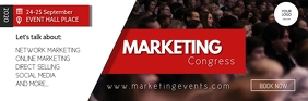Marketing congress Network event summit ad Email Header template