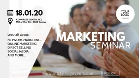Marketing Congress network sales workshop ad Video copertina Facebook (16:9) template