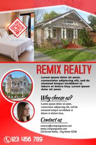 Stylish marketing flyer - Red