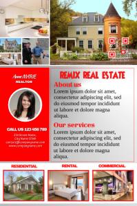 Photocollage style marketing flyer