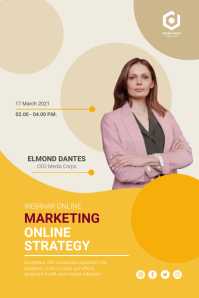 Marketing Online Strategy Poster Póster template