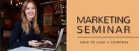 Marketing seminar,business tips Facebook Cover Photo template