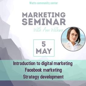 Marketing seminar video ad instagram