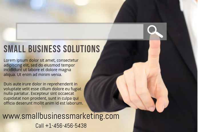 Marketing Services Promo Poster Template