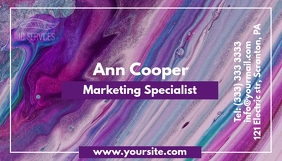Marketing specialist abstract business card template