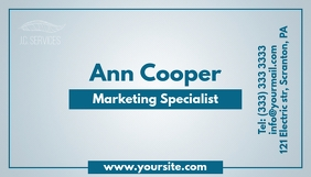 Marketing specialist gradient business card template