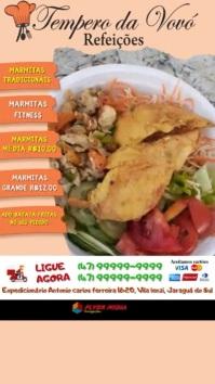 Marmita Restaurante WhatsApp Status template